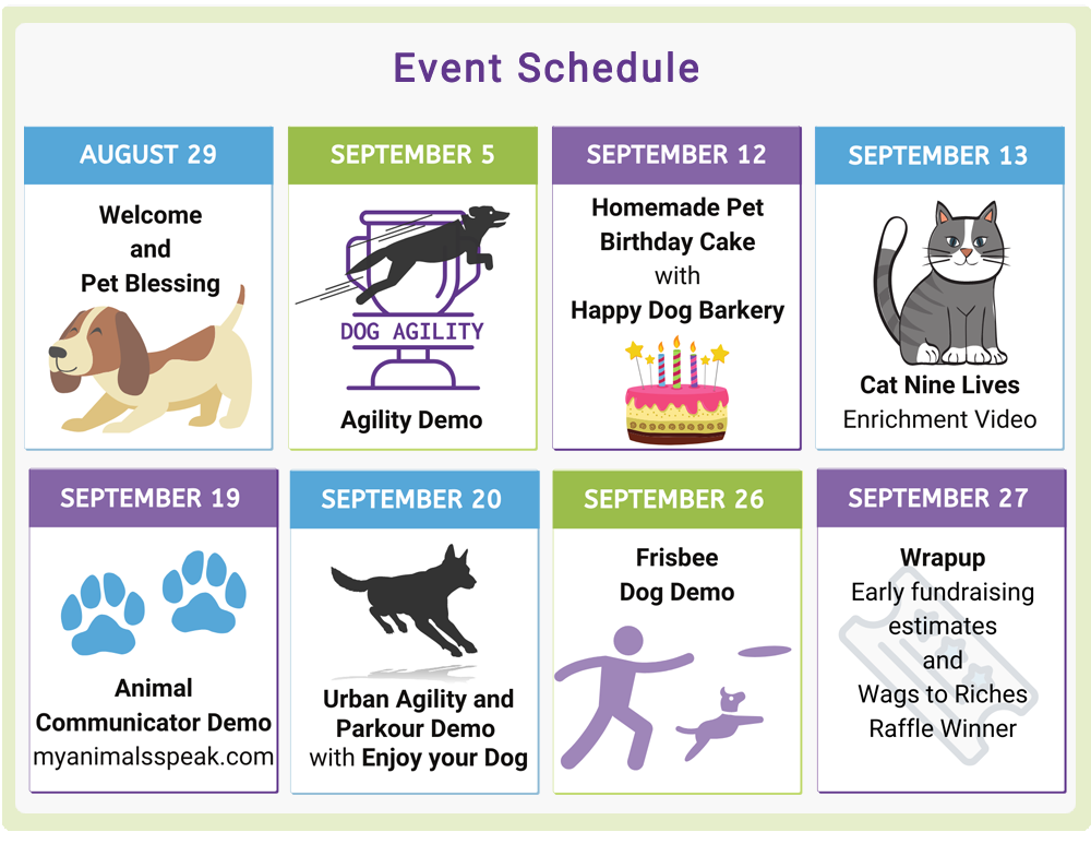Bark20 Event Schedule